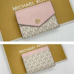 Michael Kors Md Flap Bifold Wallet Powder …